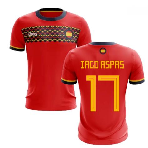 2020-2021 Spain Home Concept Football Shirt (Iago Aspas 17)