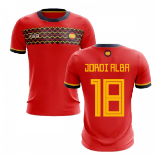 2020-2021 Spain Home Concept Football Shirt (Jordi Alba 18)