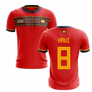 2020-2021 Spain Home Concept Football Shirt (Xavi 8)
