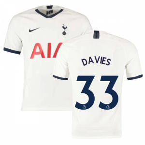 2019-2020 Tottenham Home Nike Football Shirt (Kids) (DAVIES 33)