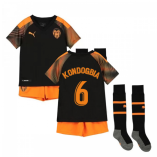 2019-2020 Valencia Away Little Boys Mini Kit (KONDOGBIA 6)