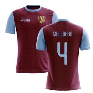 2019-2020 Villa Home Concept Football Shirt (Mellberg 4)