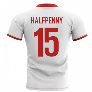 2019-2020 Wales Flag Concept Rugby Shirt (Halfpenny 15)