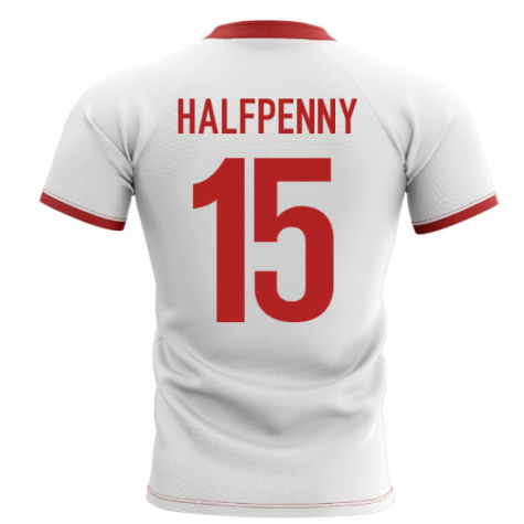 2020-2021 Wales Flag Concept Rugby Shirt (Halfpenny 15)