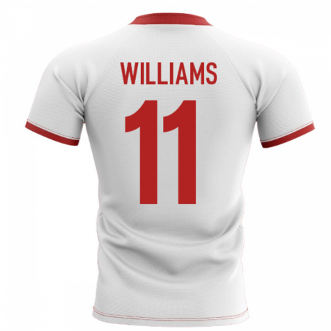 2020-2021 Wales Flag Concept Rugby Shirt (Williams 11)