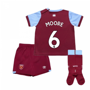 2019-2020 West Ham Home Little Boys Mini Kit (MOORE 6)