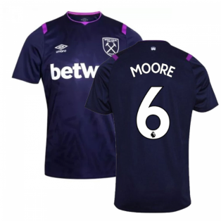 2019-2020 West Ham Third Football Shirt (MOORE 6)