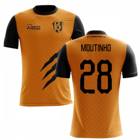 2019-2020 Wolverhampton Home Concept Football Shirt (Moutinho 28)