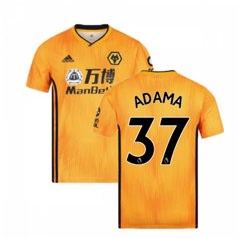 2019-2020 Wolves Home Football Shirt (ADAMA 37)