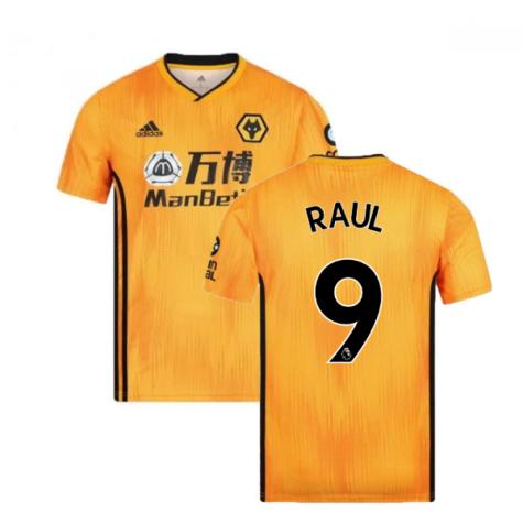 2019-2020 Wolves Home Football Shirt (RAUL 9)