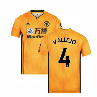 2019-2020 Wolves Home Football Shirt (Vallejo 4)