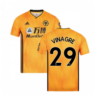 2019-2020 Wolves Home Football Shirt (VINAGRE 29)