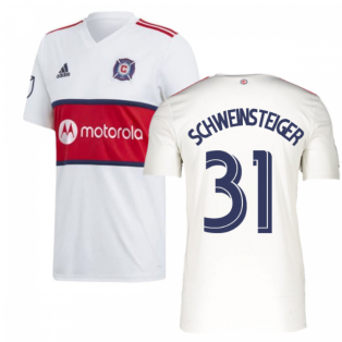 2019 Chicago Fire Adidas Away Football Shirt (SCHWEINSTEIGER 31)