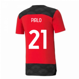 2020-2021 AC Milan Casuals Tee (Red) (PIRLO 21)