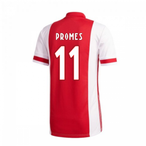 2020-2021 Ajax Adidas Home Football Shirt (PROMES 11)