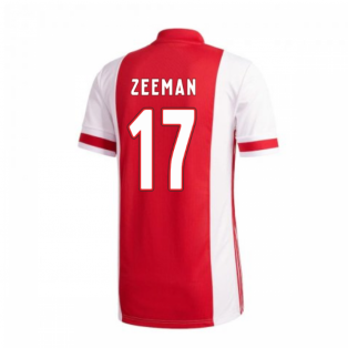 2020-2021 Ajax Adidas Home Football Shirt (Zeeman 17)