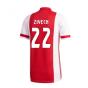 2020-2021 Ajax Adidas Home Football Shirt (ZIYECH 22)