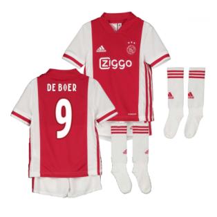 2020-2021 Ajax Adidas Home Mini Kit (DE BOER 9)