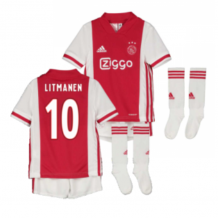 2020-2021 Ajax Adidas Home Mini Kit (LITMANEN 10)