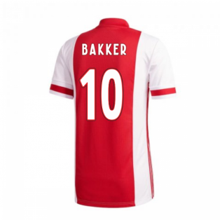 2020-2021 Ajax Adidas Home Shirt (Kids) (Bakker 10)