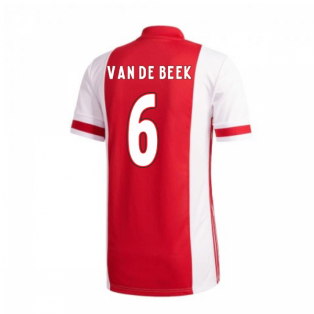 2020-2021 Ajax Adidas Home Shirt (Kids) (VAN DE BEEK 6)