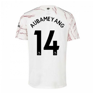 2020-2021 Arsenal Adidas Away Football Shirt (AUBAMEYANG 14)