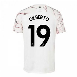 2020-2021 Arsenal Adidas Away Football Shirt (GILBERTO 19)