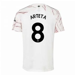 2020-2021 Arsenal Adidas Away Football Shirt (Kids) (ARTETA 8)