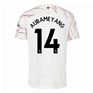 2020-2021 Arsenal Adidas Away Football Shirt (Kids) (AUBAMEYANG 14)