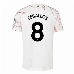 2020-2021 Arsenal Adidas Away Football Shirt (Kids) (CEBALLOS 8)