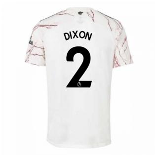 2020-2021 Arsenal Adidas Away Football Shirt (Kids) (DIXON 2)