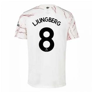 2020-2021 Arsenal Adidas Away Football Shirt (Kids) (LJUNGBERG 8)