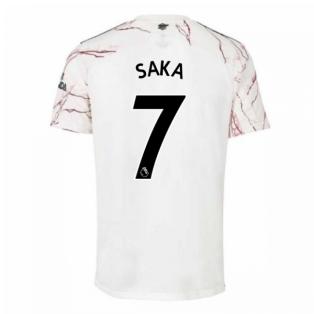 2020-2021 Arsenal Adidas Away Football Shirt (Kids) (SAKA 7)