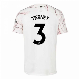 2020-2021 Arsenal Adidas Away Football Shirt (Kids) (TIERNEY 3)