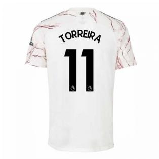 2020-2021 Arsenal Adidas Away Football Shirt (Kids) (TORREIRA 11)