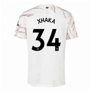 2020-2021 Arsenal Adidas Away Football Shirt (Kids) (XHAKA 34)