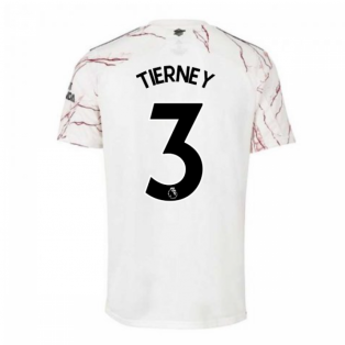 2020-2021 Arsenal Adidas Away Football Shirt (TIERNEY 3)