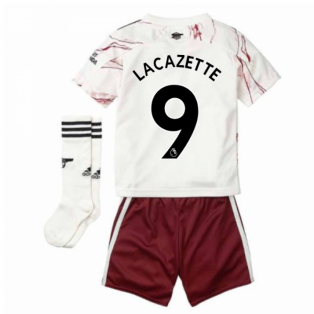 2020-2021 Arsenal Adidas Away Little Boys Mini Kit (LACAZETTE 9)