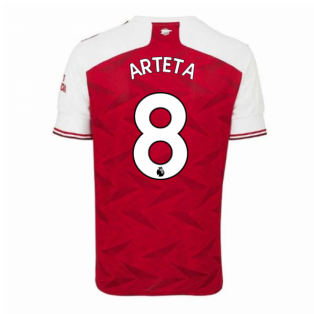 2020-2021 Arsenal Adidas Home Football Shirt (ARTETA 8)