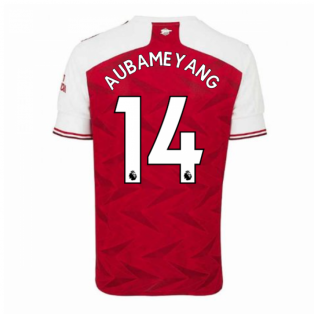 2020-2021 Arsenal Adidas Home Football Shirt (AUBAMEYANG 14)