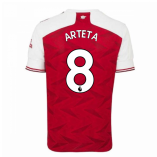 2020-2021 Arsenal Adidas Home Football Shirt (Kids) (ARTETA 8)