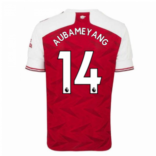 2020-2021 Arsenal Adidas Home Football Shirt (Kids) (AUBAMEYANG 14)