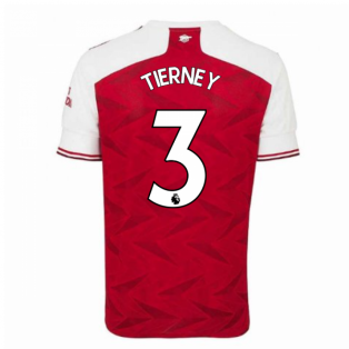 2020-2021 Arsenal Adidas Home Football Shirt (Kids) (TIERNEY 3)
