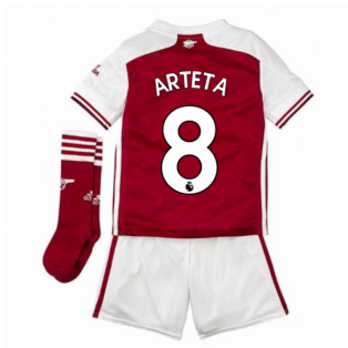 2020-2021 Arsenal Adidas Home Little Boys Mini Kit (ARTETA 8)