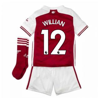 2020-2021 Arsenal Adidas Home Little Boys Mini Kit (WILLIAN 12)
