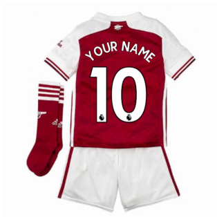 2020-2021 Arsenal Adidas Home Little Boys Mini Kit (Your Name)