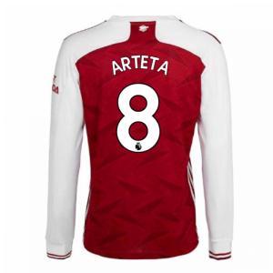 2020-2021 Arsenal Adidas Home Long Sleeve Shirt (ARTETA 8)