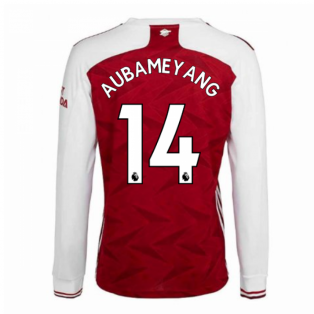 2020-2021 Arsenal Adidas Home Long Sleeve Shirt (AUBAMEYANG 14)