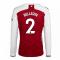 2020-2021 Arsenal Adidas Home Long Sleeve Shirt (BELLERIN 2)