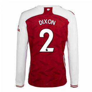 2020-2021 Arsenal Adidas Home Long Sleeve Shirt (DIXON 2)